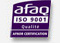 Certification AFNOR ISO 9001